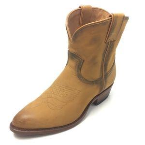 FRYE Billy Short Western Booties Beige Brown 7 NEW